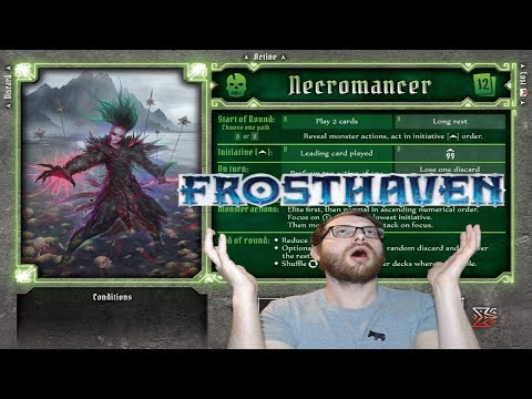 Frosthaven Necromancer starting class - early first impressions and builds