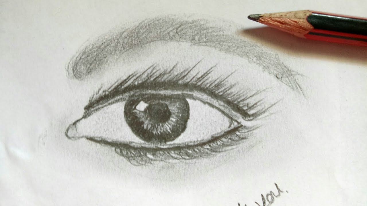 Cool Simple Eye Drawings Wwwtopsimagescom