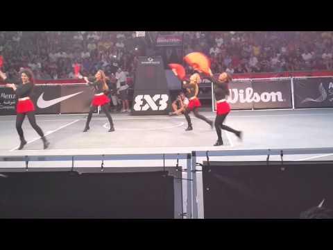 Dancers at FIBA 3x3 World Tour Finals Abu Dhabi 1
