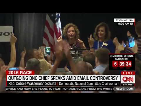 Debbie Wasserman Schultz has to shout over commotion, boos at Florida delegate breakfast