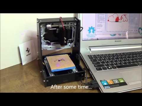NEJE JZ-5 Mini Laser Engraving Machine - Engrave Wood