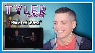 Tyler Oakley Reaction | Haunted Maze w/ Liza Koshy