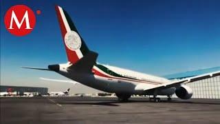 Regresa el avión presidencial después de no venderse en EU