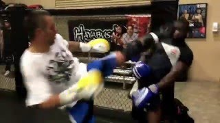 Uriah Hall sparring Highlight in preparation for fight vs Anderson Silva in Brazil at Xtreme Couture
