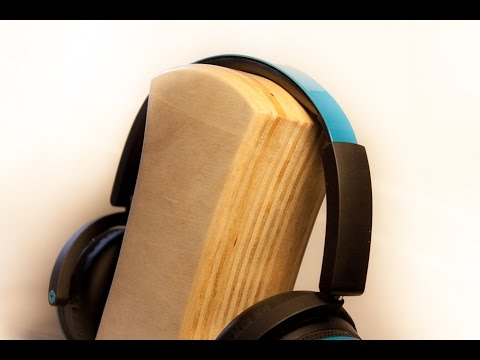Simple plywood headphone stand