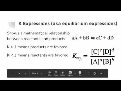 Dissociation And K Expressions For A/B