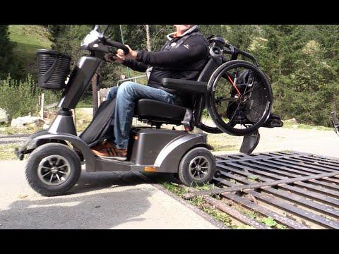 neu komfort federung scooter rollstuhl sopur youtube. Black Bedroom Furniture Sets. Home Design Ideas