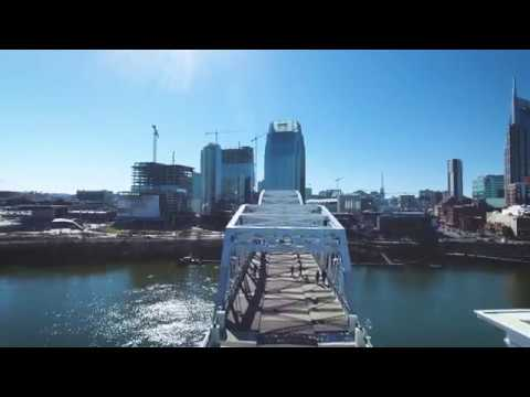 John Seigenthaler Pedestrian Bridge in Nashville, TN