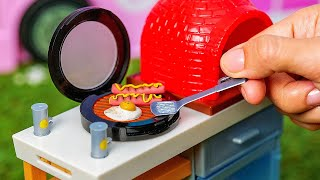 14 Barbie Camping DIYs || Mini Campfire, Grill, Backpack, Sleeping Bag And Binoculars