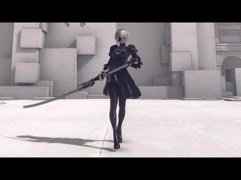 【NieR:Automata】2B 全武器モーション鑑賞動画 All actions(Moveset)
