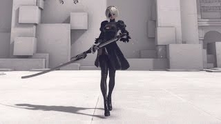 【NieR:Automata】2B 全武器モーション鑑賞動画 All actions thumbnail