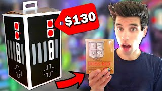 Unboxing a $130 HUGE Mystery Box at an Arcade!