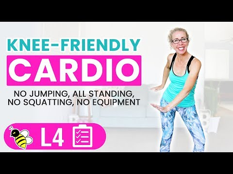 Knee Friendly Cardio HIIT, 40 Minute LOW IMPACT Workout �� Burn 400 Calories