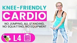 Knee Friendly Cardio HIIT, 40 Minute LOW IMPACT Workout  Burn 400 Calories