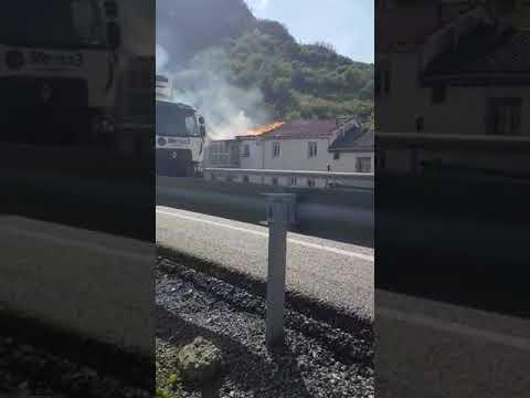 Incendio en Vega de Gordón