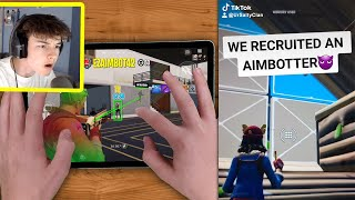 I Caught my TIKTOK Clan using AIMBOT in Fortnite Mobile...