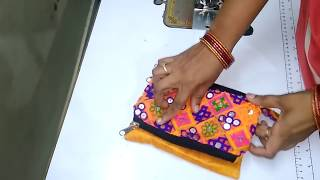 How To Sew Beautiful Hand Purse With Recycled Cloth    How To Stitch Double Zipper Pouch At Home