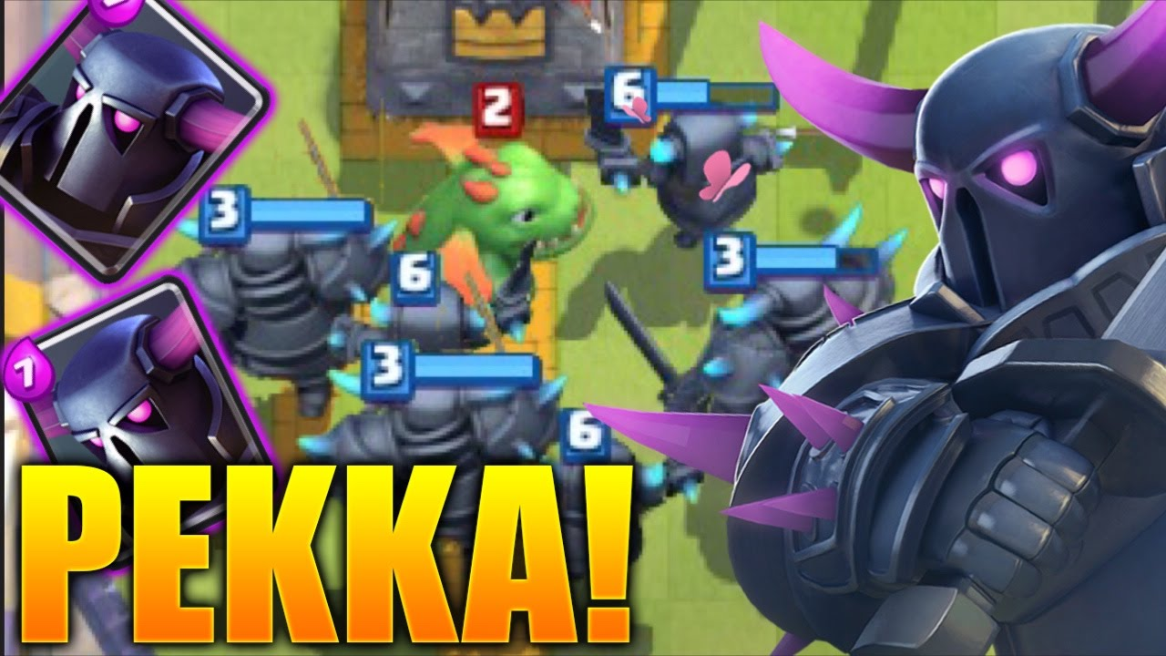 Clash Royale - PEKKAS ONLY! Mass Pekka Deck! (Mini Pekka & Pekka ...