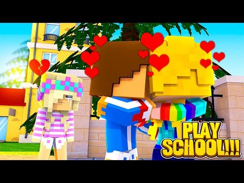 Minecraft PLAY SCHOOL    BABY LEAH GETS REJECTED BY HER CRUSH!!!