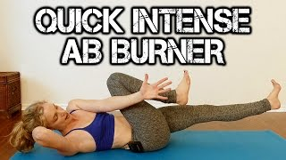 INTENSE ABS! 10 Minute Ab & Core Yoga Workout with Lindsey to Burn Belly Fat, Tone & Shape