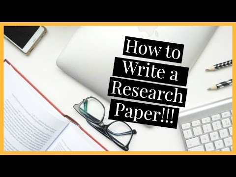 How to Write a Research Paper | Law School Vlog