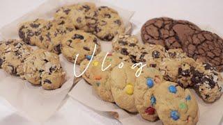 vlog | 홈베이킹 브이로그 | 수제 쿠키, 아이스박…