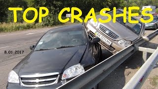 TOP 15 Car Crashes Compilation 8 01 2017