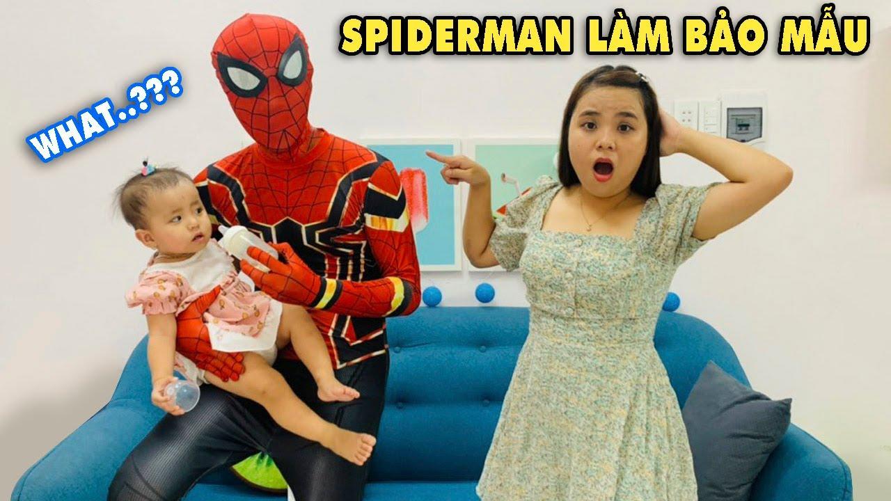 Gia đình Linh Nhi thuê Người Nhện Làm Bảo Mẫu Cho Bé Miu - Spiderman's A Nanny