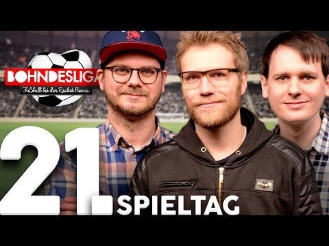 21. Spieltag der Bundesliga in der Analyse | Bohndesliga-Fußball bei Rocket Beans | 20.02.2017