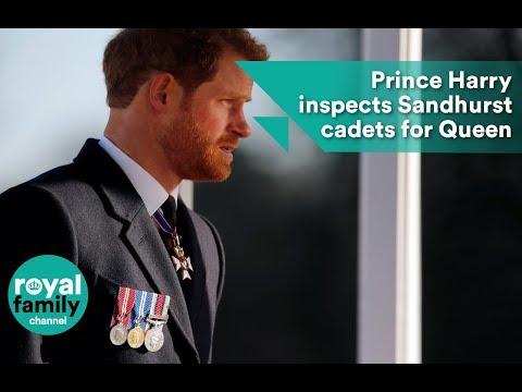 Prince Harry inspects Sandhurst cadets