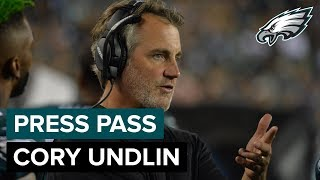 Defensive Backs Coach Cory Undlin Discusses The Secondary & More | Eagles Press Pass