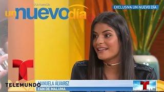 Llegó Manuela, la chica que recibió un beso de Maluma   Un Nuevo Día   Telemundo
