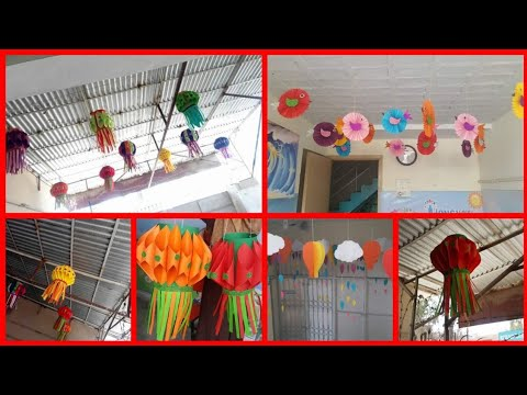 Roof hanging decoration ideas || home and classroom decoration ||