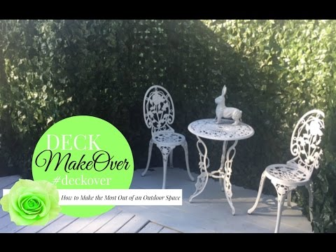 DECK MAKEOVER//HOW TO MAKE THE MOST OF AN OUTDOOR SPACE //MRSOFTHEHOME