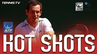 Hot Shot: Murray Lob Kisses The Line At Barcelona 2017