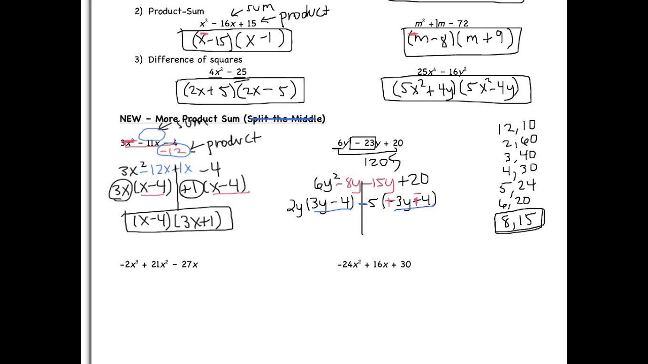 Factoring Difference Of Squares Worksheet 008 - Factoring Difference Of Squares Worksheet