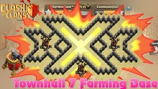 Townhall 7 Awesome Triple xXx Farming Base | Th7 Epic Troll Base | 3 Airdefense and Air sweeper