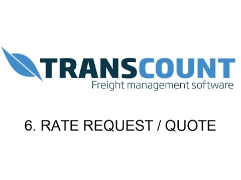 6. Rate requests / quotes - Transcount.com