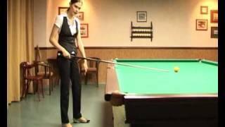 Бильярд: Анастасия Луппова дает урок(Видео -