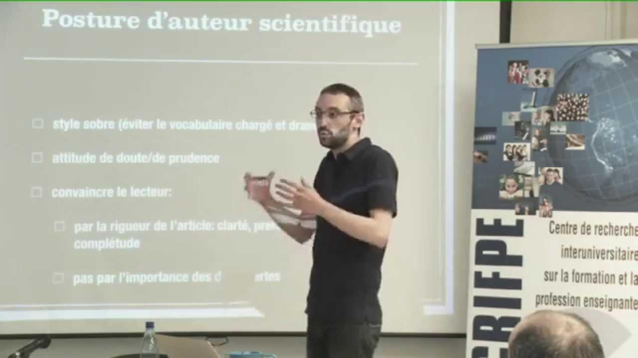 Simon COLLIN - La rédaction d'articles scientifiques - YouTube