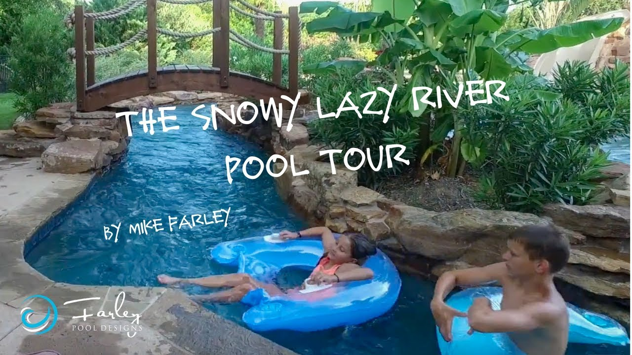 Snowy Lazy River Pool Tour By Mike Farley, SWD, ASLA