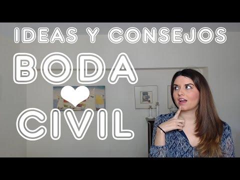 Boda civil: Ideas y consejos