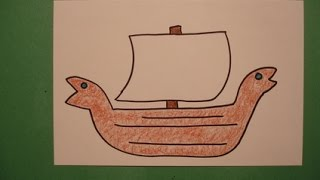 Repeat youtube video Let's Draw a Viking Ship!