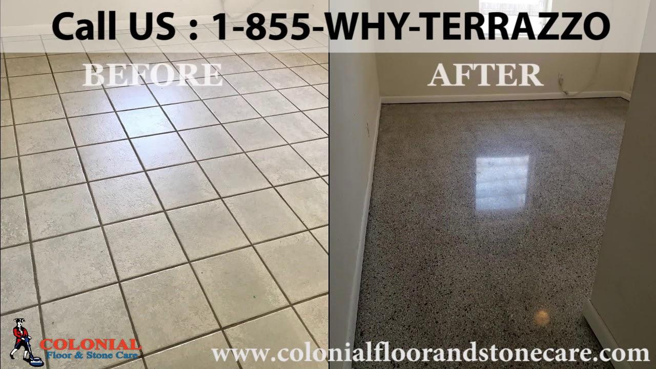 How To Remove Terrazzo Floor Tiles In Broward Youtube