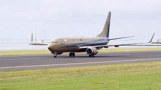 """Sultan of Johor"" (9M-III). Landing in Tahiti (NTAA)."