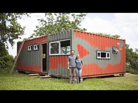 Shipping Container Aluminum Windows Installation in 5 steps - Part 2/2 - Ep 010