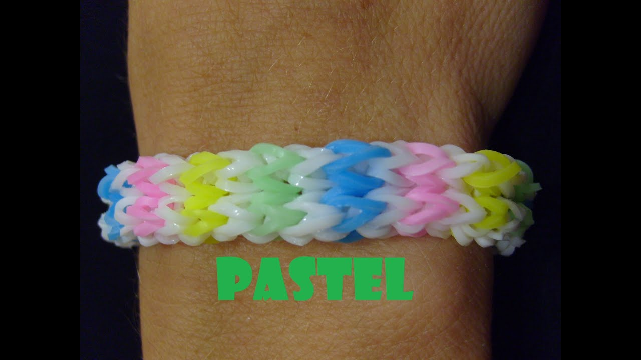 bracelet elastique pastel monstertaill rainbow loom bands tuto francais youtube. Black Bedroom Furniture Sets. Home Design Ideas