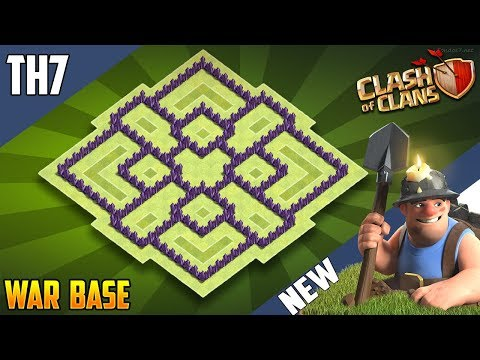 New Epic  TH7 WAR/TROPHY[defense] Base 2018!! COC Town Hall 7 War Base Design - Clash Of Clans