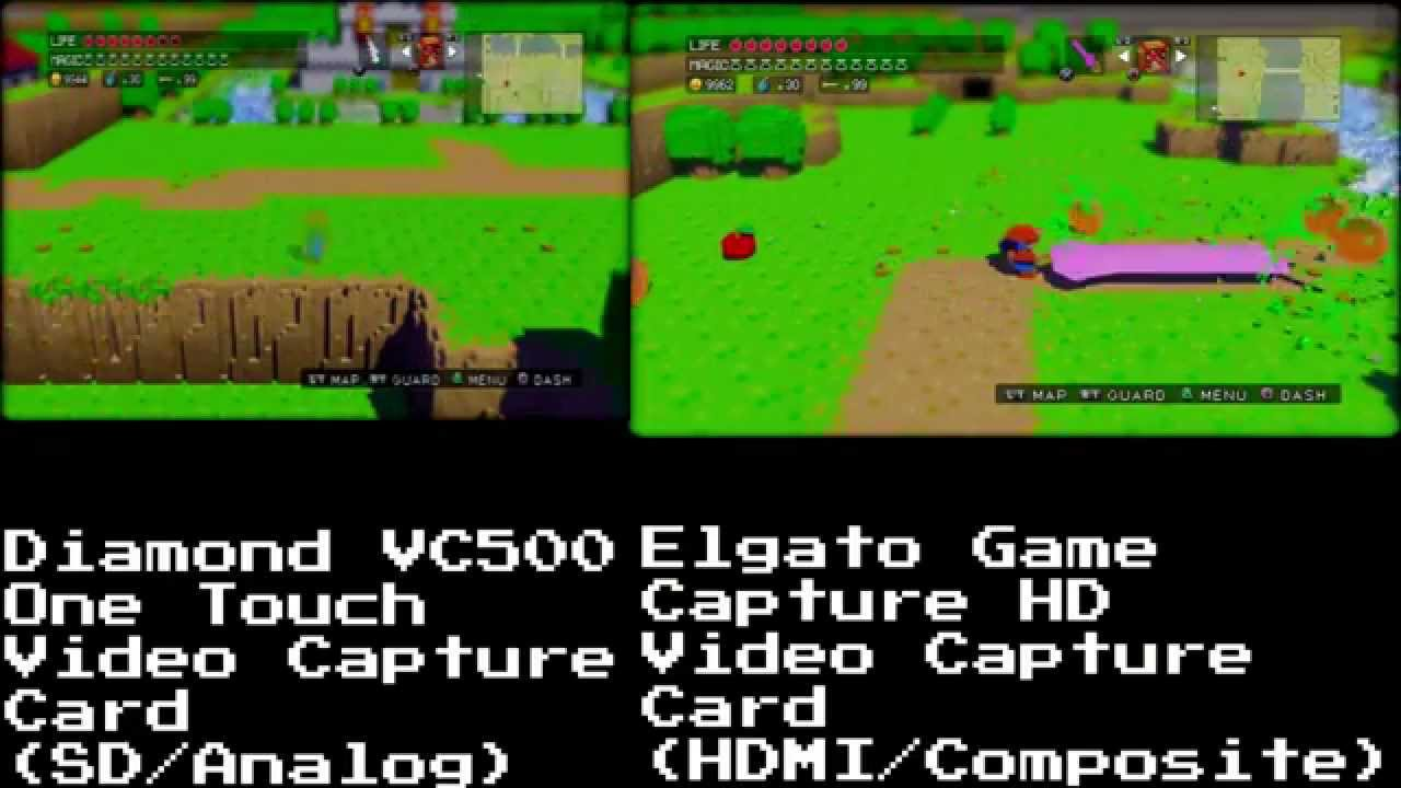 3D Dot Game Heroes - Quality Test - Diamond VC500 VS Elgato Game Capture HD