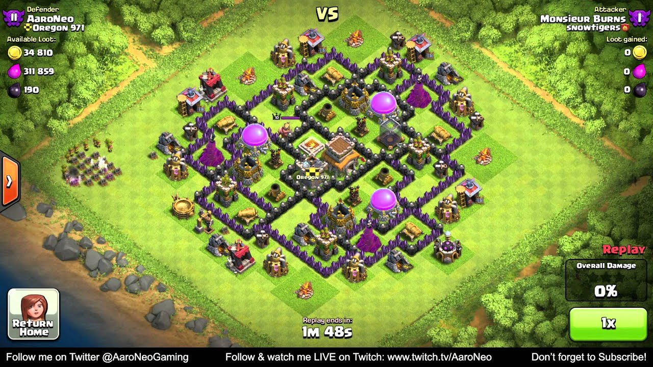 Best town hall level 8 th8 defense strategy clan wars hybrid